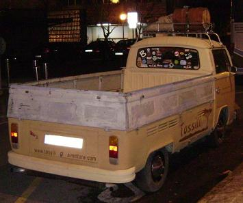 Volkswagen T2 Pick-up. Vista trasera.