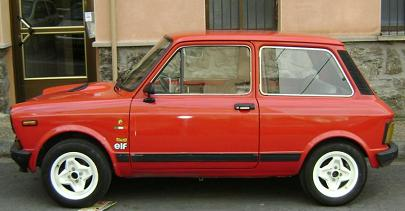 Autobianchi A112 Abarth. Vista lateral.