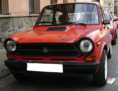 Autobianchi A112 Abarth. Vista frontal.