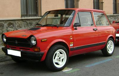 Autobianchi A112 Abarth. Vista lateral