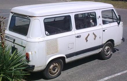 FIAT 900 E. Vista Trasera.