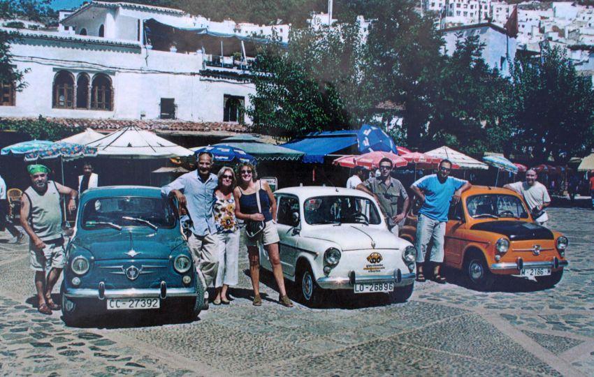 Jose Luis y sus amigos con los 600 en Marruecos