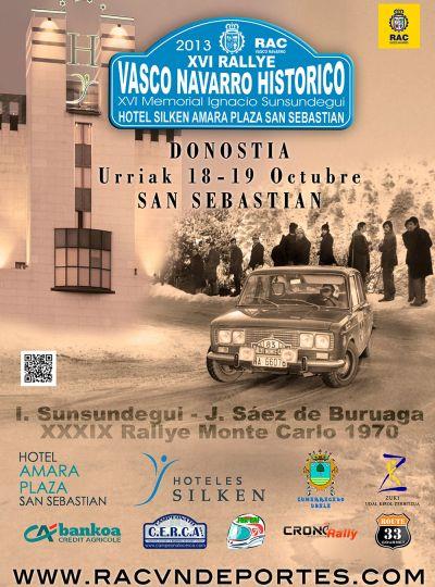 Cartel XV Memorial Igancio Sunsundegui ( Rallye Vasco-Navarro Histórico 2.013)