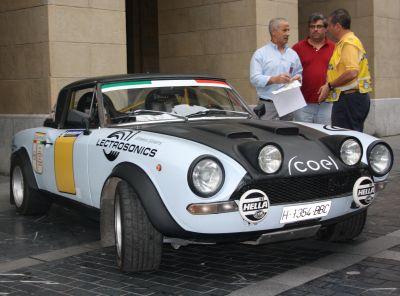FIAT124 Spyder. XVI Rallye Vasco Navarro Histórico. Merial Ignacio Sunsundegui 2013.