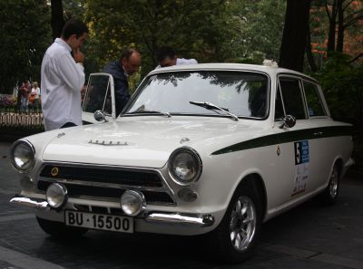 Lotus Cortina. XVI Rallye Vasco Navarro Histórico. Merial Ignacio Sunsundegui 2013.