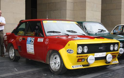 FIAT 131 Abarth. XVI Rallye Vasco Navarro Histórico. Merial Ignacio Sunsundegui 2013.