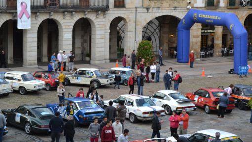 Parada en Zumarraga. Rallye Vasco Navarro histórico.