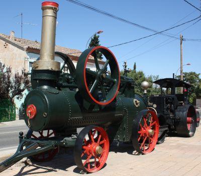 Antigüedades y mobiliario urbano Juan Burgos. Maquinaria de obra publica a vapor.