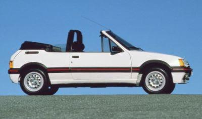 Peugeot 205 CTi. Vista lateral.