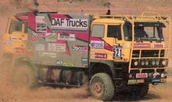 DAF 3300 Tweekoppige Monster. Dakar 1.984. Jan de Rooy