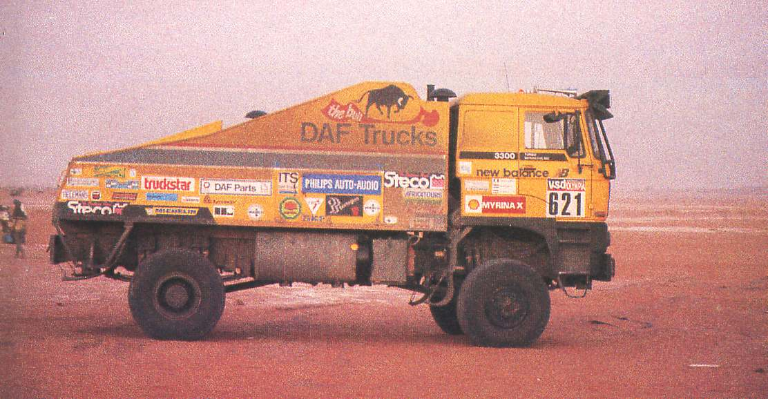 DAF F 3300 The Bull. Dakar 1985. Jan de Rooy