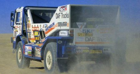 DAF 3300 Turbo Twin. Dakar 1986. Jan de Rooy
