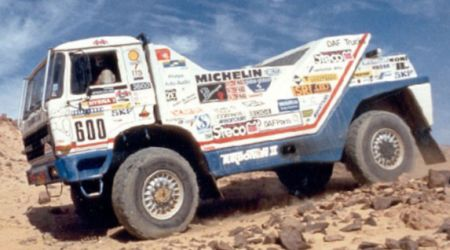 DAF 3300 Turbo Twin II. Dakar 1987. Jan de Rooy