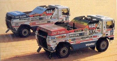 DAF 95 Turbo Twin X1 y X2. Dakar 1987. Jan de Rooy