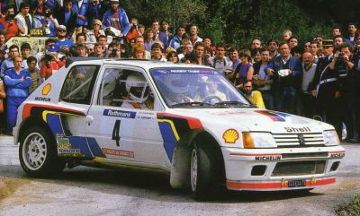 Peugeot 205 Turbo 16. Ari Vatnanen en el Tour de Corse 1984