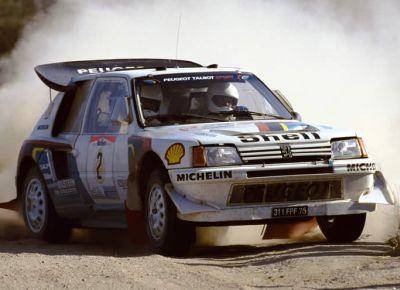 Peugeot 205 Turbo 16. Stig Blomqvist en el Rally de Argentina 1.986