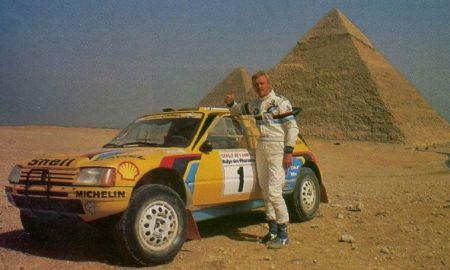 Ari Vatanen en el Rallye de los Faraones 1.987