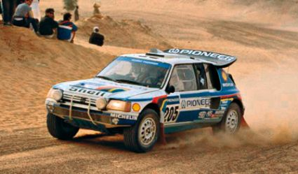 Peugeot 205 Turbo 16 Grand Raid. Juha Kankkunen en el Dakar 88