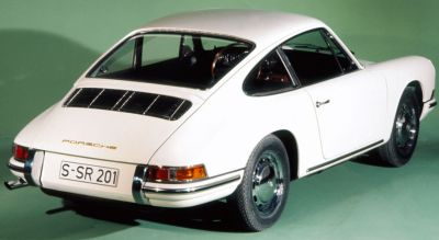 Porsche 911 Tipo 901. Vista trasera.