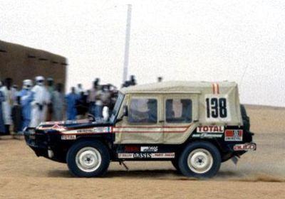 Dakar 1980.Volkswagen Iltis 138. Jean Ragnotti y Georges Vaills.