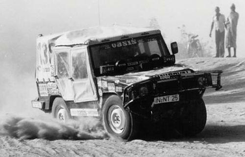 Dakar 1980. Volkswagen Iltis 139. Roland Gumpert y Eder Alois
