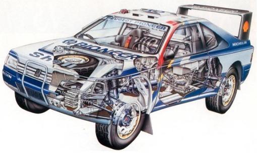 Mecánica del Peugeot 405T16 Grand Raid