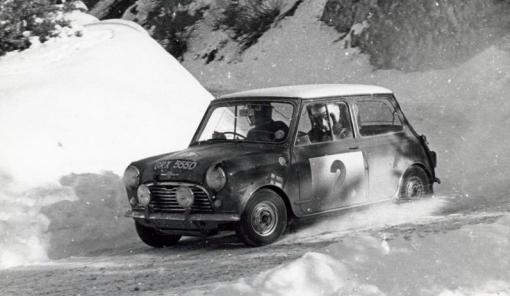 Timo Makinen. Mini Cooper S. Montecarlo 1966.