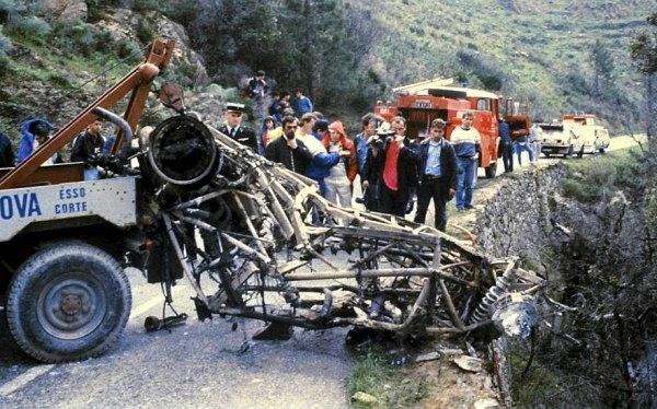 Restos del Lancia Delta S4 de Toivonen