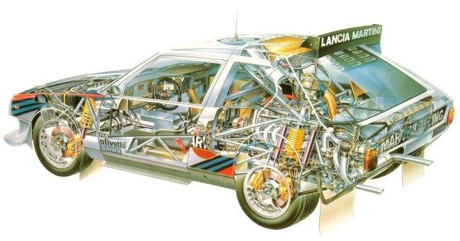 Depósito gasolina Lancia delta S4 Toivonen.
