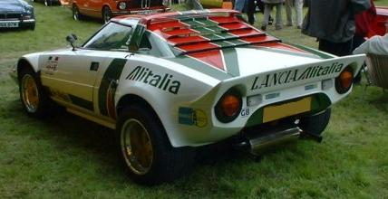 Lancia Stratos. Equipo Alitalia. Vista Trasera.