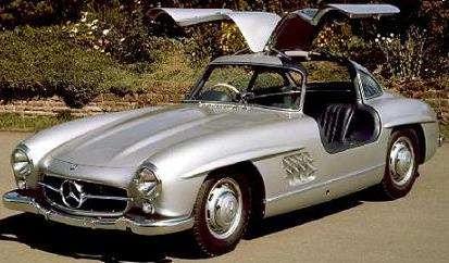 Mercedes 300 SL. Vista frontal.