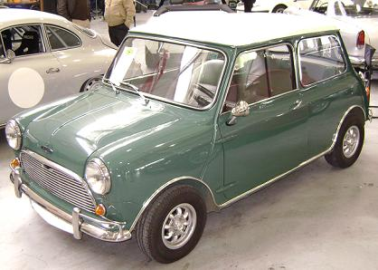 Austin Mini. Vista frontal.