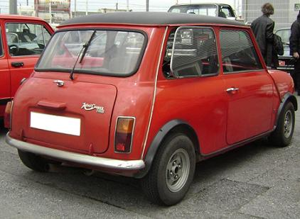 AUTHI Austin Mini Cooper 1300. Vista trasera.