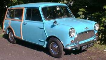 Austin Mini Traveler. Vista frontal.