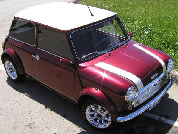 Mini Cooper S. Vista superior.