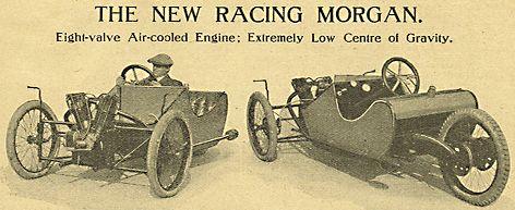 Triciclo Morgan. Cartel publicitario año 1914.