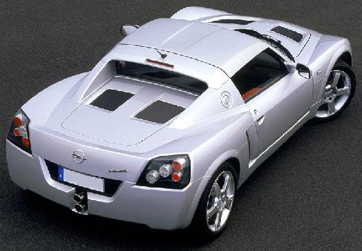 Opel Speedster. Capota cerrada.