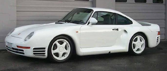 Porsche 959. Vista lateral.
