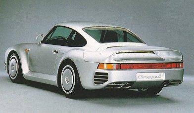 Porsche 959. Vista Trasera.