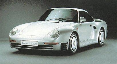 Porsche 959. Vista delantera.