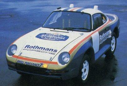 Posche 959. Rothmans París-Dakar