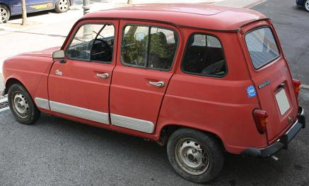 Renault 4 GTL Clan. Vista trasera.