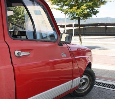 Renault 4 GTL Clan. Aletas delanteras.