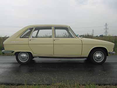 Renault 16 primera serie. Vista Lateral.