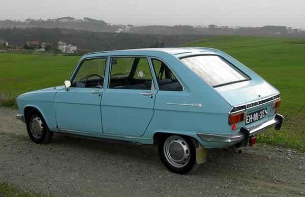 Renault 16 1ª serie. Vista Trasera.