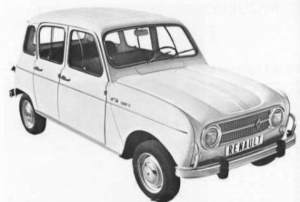 Renault 4 Super. Vista frontal.