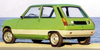 Renault 5. Vista trasera