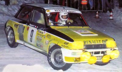 Renault 5 Turbo1, Jean Ragnotti Rallye de Montecarlo 1.981.