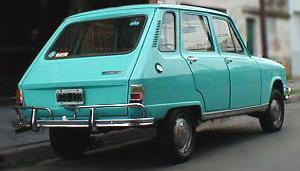 Renault 6 primera versión. Vista trasera