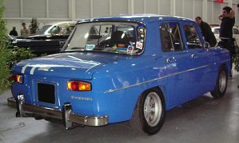Renault 8 Gordini. Vista trasera